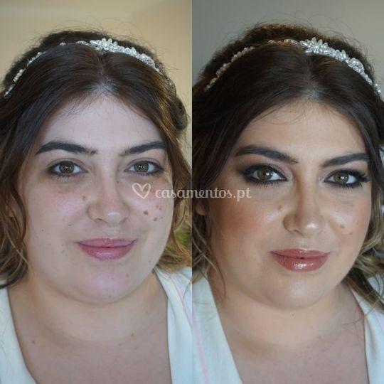 Noiva Nádia, antes e depois
