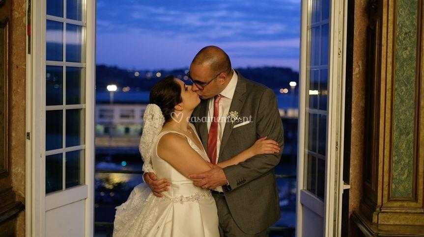 Frame de um video de casamento