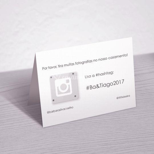 Hashtag dos noivos