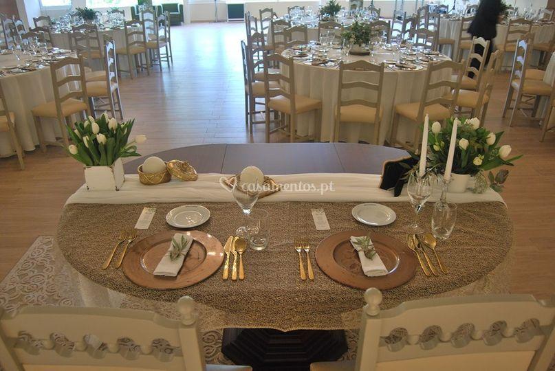 Mesa rustica noivos