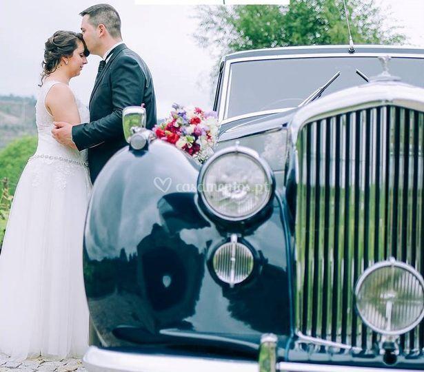 Bentley 1952 - chegada noivos