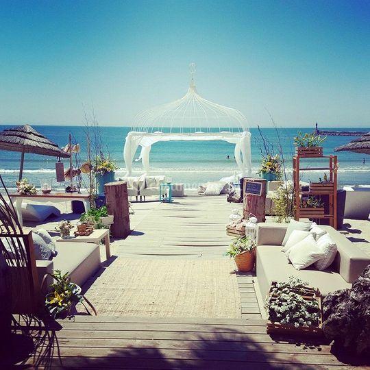 Um dia de sonho de Set Lounge Beach Weddings