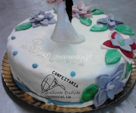 Bolo aniversário casamento