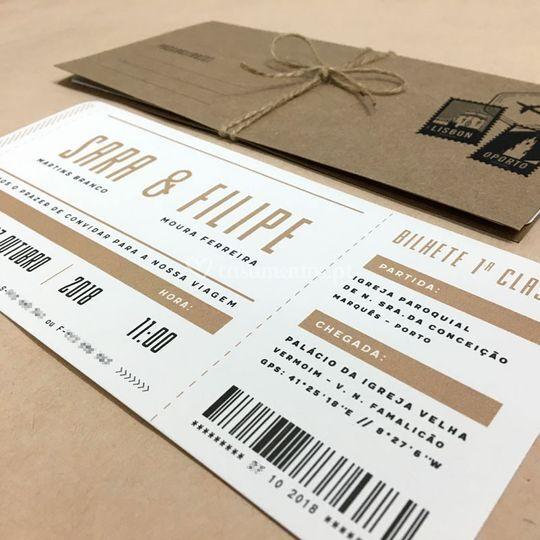 Convites boarding pass