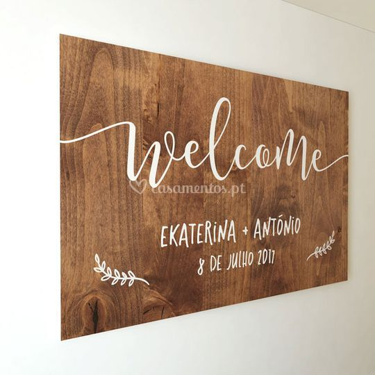 Welcome board 50x70cm E+A