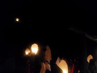 Largada de Lanternas de Papel