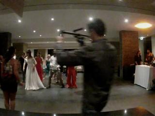 Aula de zumba num casamento