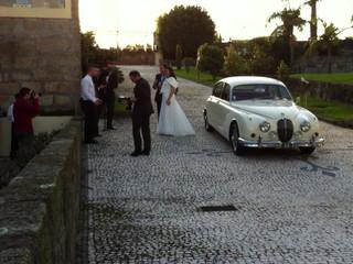 Entrada dos noivos na quinta do Gestal