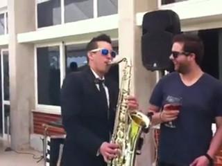 Receção com saxofonista
