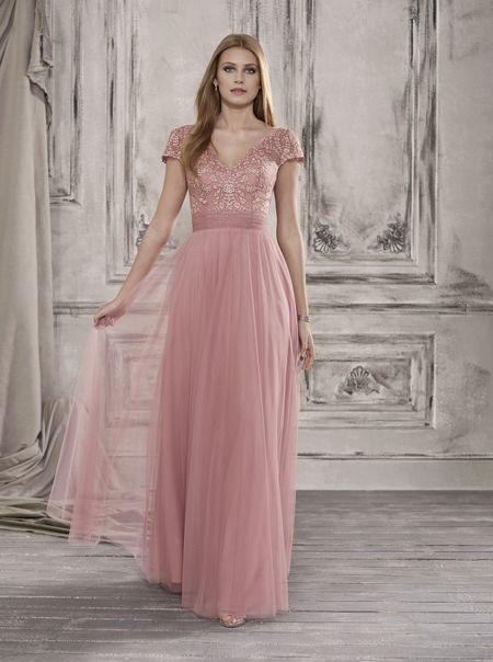 vestido Rosa Claro Decote Nas Costas Convidada De Casamento