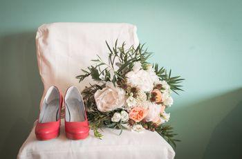 Sapatos de noiva coloridos para 2018