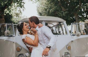 6 Ideias de fotos originais com o carro dos noivos
