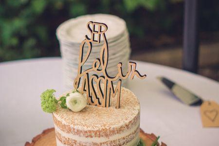 30 cake toppers com letras e frases