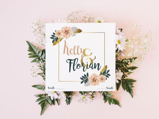 Convites de casamento com flores: os melhores modelos