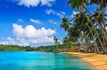 Lua-de-mel nas Caraíbas: romance num paraíso