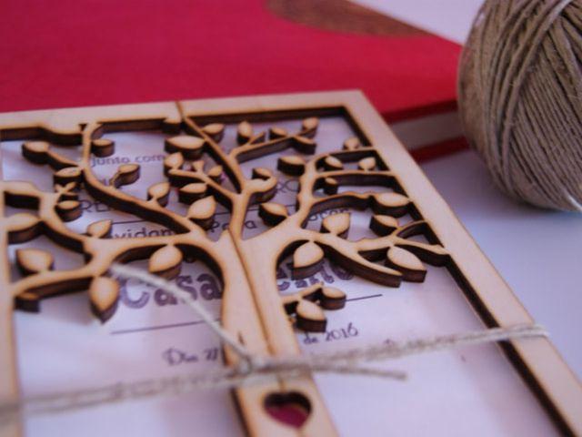Convites em madeira: um must para os enlaces rústicos