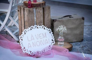 Aí vem a noiva! As plaquinhas mais originais para a entrada na cerimónia