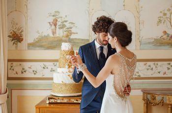 Casamento azul e dourado: um contraste chic e romântico