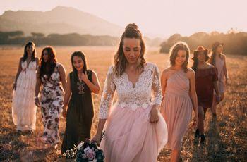 10 Penteados inovadores para noivas com cabelo médio