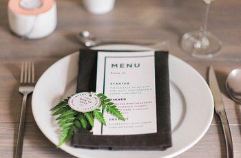 6 maneiras de apresentar o menu de casamento