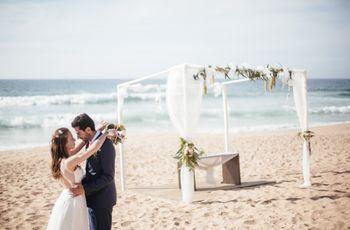 Decoração para um casamento na praia
