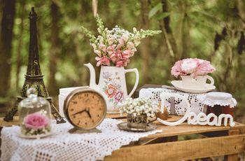 Ideias para a decoração de um casamento vintage