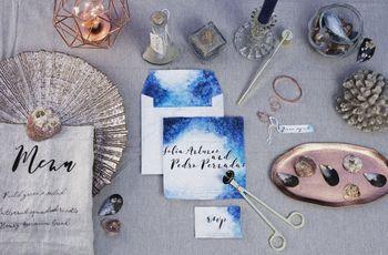 Convites de casamento para casamentos na praia
