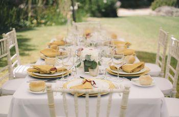 Mesas românticas e simples para o vosso mini wedding