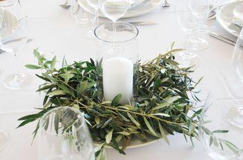 Centros de mesa simples e elegantes