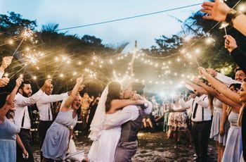 Decoração para um casamento noturno