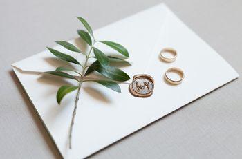 Protocolo dos convites de casamento