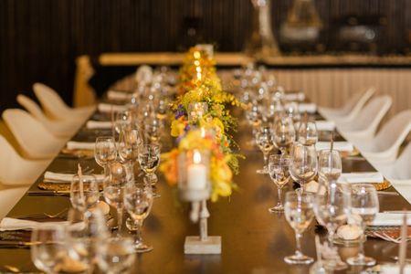 Como decorar mesas de casamento retangulares