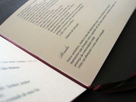 Conselhos para preparar o missal do casamento