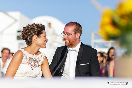 O casamento da Marta e do Miguel, uma união íntima em Santorini