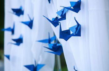 Ideias para usar origami no casamento