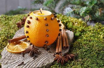 Como fazer um porta-velas com fruta