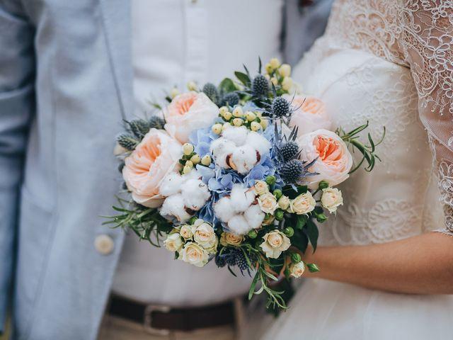 20 bouquets de noiva azuis
