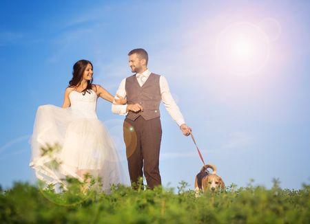 Faz com que o teu animal de estima��o participe no casamento