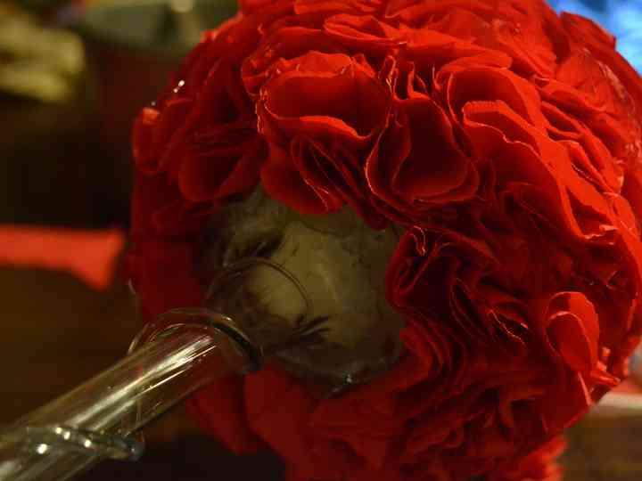 DIY topiário com flores de papel