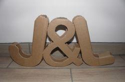 Letras XXL para a decoração do teu casamento