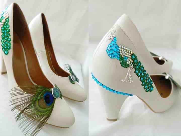 Personalizar os sapatos de noiva