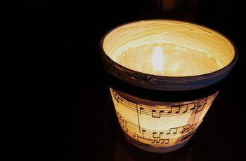 Porta velas personalizado para casamentos