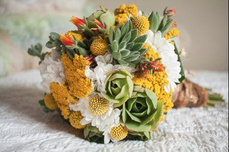 Inspira-te nestes bouquets de noiva com suculentas