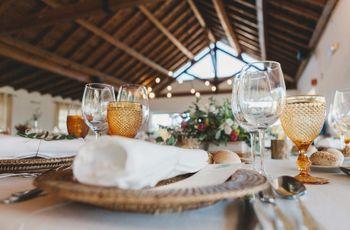 Conselhos para organizar as mesas do copo de água