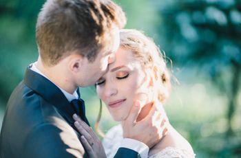 Detalhes de casamento no outono