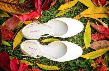 Sapatos atados ao tornozelo para as noivas vintage