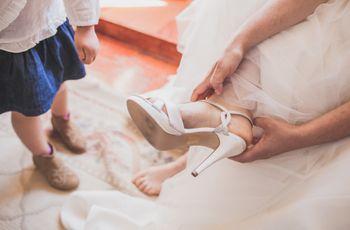 50 Sapatos de salto médio para as noivas mais românticas
