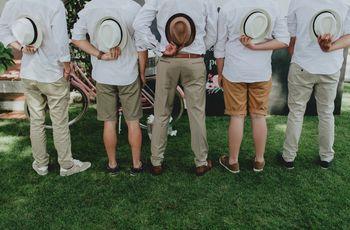 As melhores fotos do noivo com os seus best men