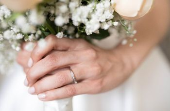 Alianças simples para noivos discretos e apaixonados