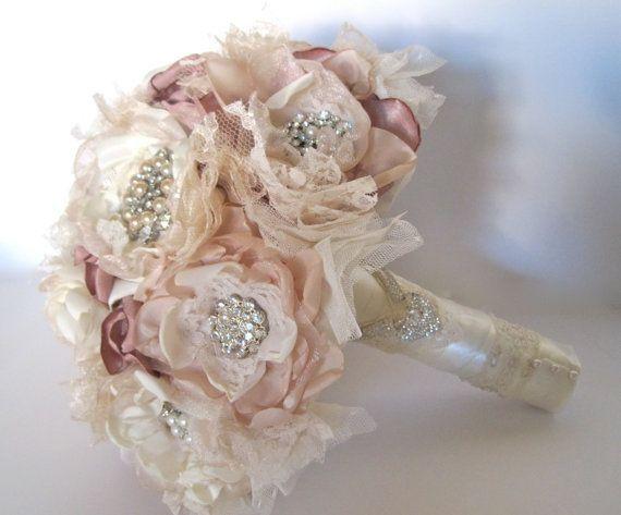 Bouquet tecido tons pastel